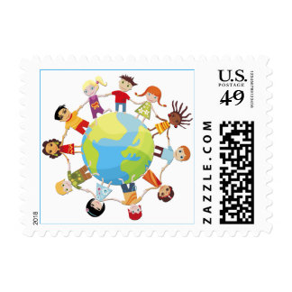 Kids for world peace stamps