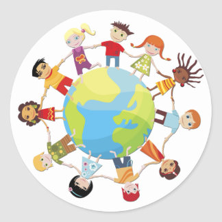 Kids for world peace stickers