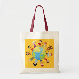 Kids for world peace tote bag