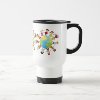 Kids for world peace travel mug