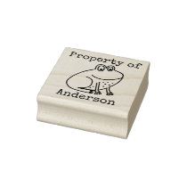 Kids Frog Personalized Property Of Cartoon Animal Rubber Stamp