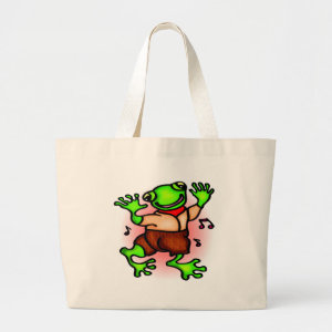 Kids Frog Tote Bag bag