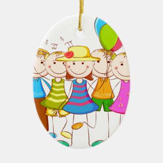 kids-fun ceramic ornament
