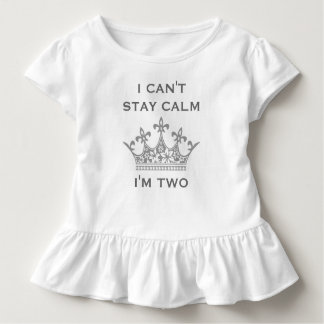 Kids Funny 2nd Birthday Can't Stay Calm I'm Two V4 Shirts