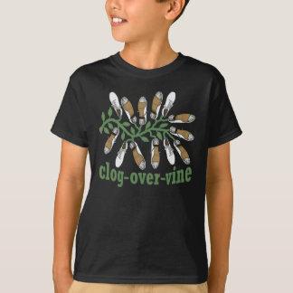 Kids Funny Clogging Step Clog Over Vine Drawing T-Shirt