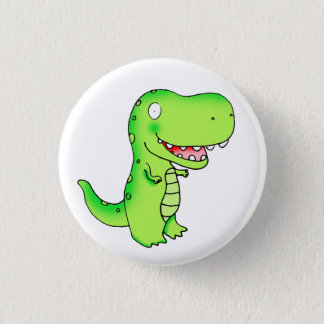 kids funny cute cartoon T-rex dinosaur Pinback Button