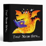 Kid's Funny Halloween Dragon 3 Ring Binders