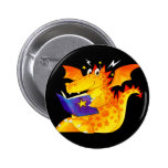 Kid's Funny Halloween Dragon Buttons