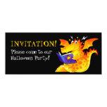 "Kid's Funny Halloween Dragon 4"" X 9.25"" Invitation Card"