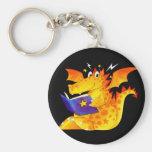 Kid's Funny Halloween Dragon Key Chain