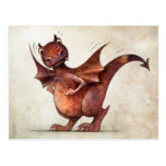 Kid's Funny Little Dragon Postcard