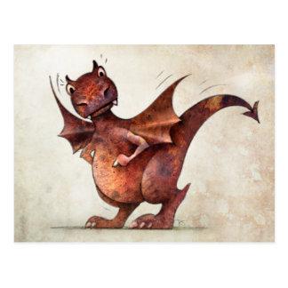 Kid's Funny Little Dragon Postcard