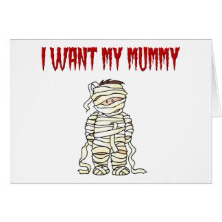 Kids Funny Mummy Card