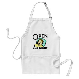 Kids Funny Open All Night Apron