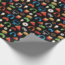 Kids Gamer Video Game Snacks Pizza Donuts Fun Wrapping Paper