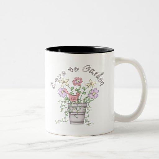 Kids Gardening T Shirts and Kids Gifts Two-Tone Coffee Mug