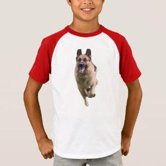 Kids' German Shepherd Sleeve V-Neck T-Shirt