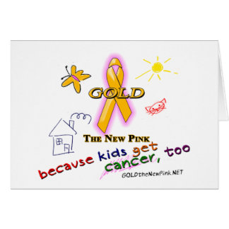 Kids Get Cancer, Too! Stationery Note Card