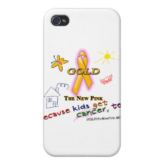 Kids Get Cancer, Too! Case For iPhone 4