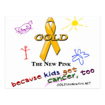 Kids Get Cancer, Too! Postcard