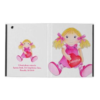 Kids girls doll name pink ipad mini powis case