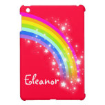 Kids girls named colorful rainbow red ipad mini cover for the iPad mini