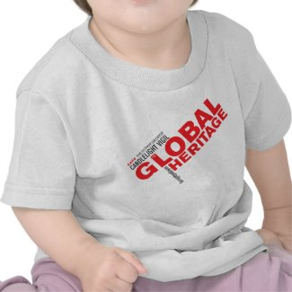 Kids' Global Heritage shirt with red logo