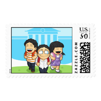 Kids Going Back to School Postage