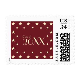 Kids Gold Stars Class of Graduation Postage Stamp
