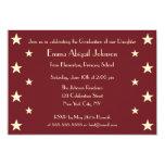 Kids Gold Stars Custom Graduation Party Invitation