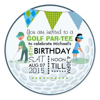 Kids Golf Theme Birthday Party Customize Add Photo Card