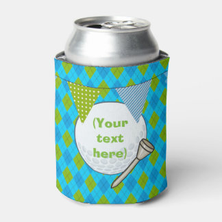 Kids Golf Theme Birthday Party Customized Can Cooler