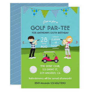Golf birthday invitations zazzle kids golf theme birthday party invitation filmwisefo