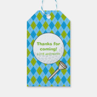 Kids Golf Theme Birthday Party Personalized Pack Of Gift Tags
