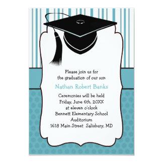 "Kids Graduation Announcements (for a boy) 5"" X 7"" Invitation Card"