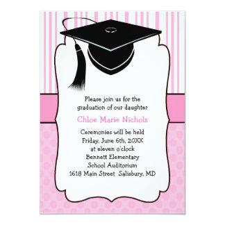 "Kids Graduation Announcements (for a girl) 5"" X 7"" Invitation Card"
