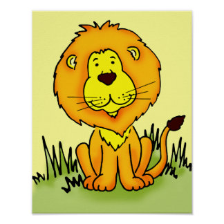 Kids graphic lion poster