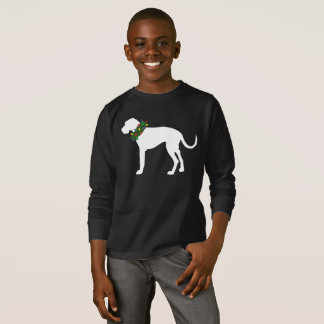 Kids Great Dane Christmas Wreath Holiday Shirt