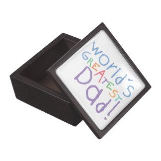 Kids Greatest Dad Father's Day Gift Box Premium Jewelry Box