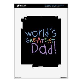 Kids Greatest Dad Father's Day iPad 3 Skin