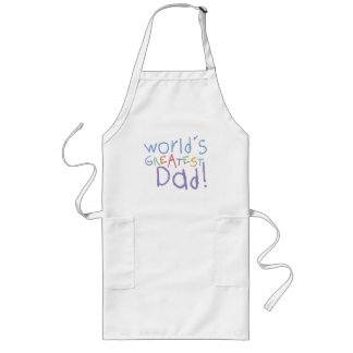 Kids Greatest Dad Long BBQ Apron