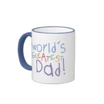 Kids Greatest Dad Ringer Mug