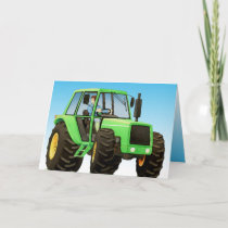 Kid's Green Tractor Card