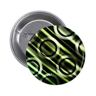 Kids Green Yellow Circles Pinback Button