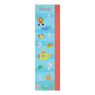 Kids Growth Chart - In the Sea