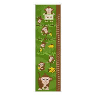 Kids Growth Chart - Monkeys