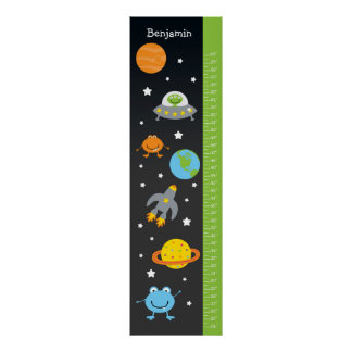 Kids Growth Chart - Outer Space