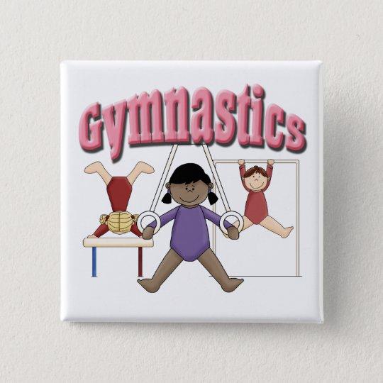 Kids Gymnastics Gift Pinback Button