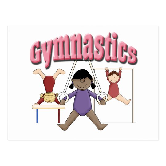 Kids Gymnastics Gift Postcard