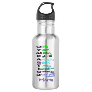 Kids Gymnastics Personalized Water Bottle